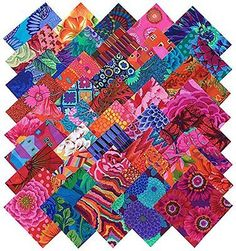 Kaffe-Fassett-Collective-BOLD-BRIGHT-Precut-5-inch-Cotton-Fabric-Quilting-Charm. $22.09, free shipping. myb