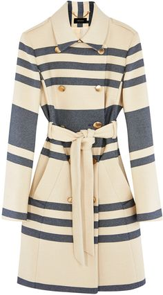 Striped Trench Coat - ShopStyle Collective