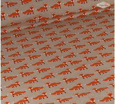 Stevige katoen vosjes - De Stoffenkamer