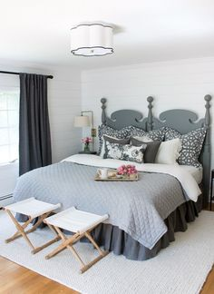 """Master Bedroom Makeover (such a HUGE change from the """"before"""")! 