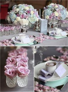 Love this spread.  Would like it in blush blues and light yellows.