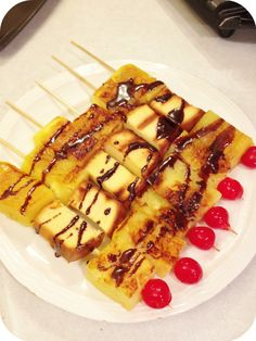 Yum! Grilled Pineapple Bliss on a Stick #Recipe