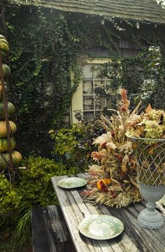 There is a rhythm inside a year of time, like a great mainspring that keeps it ticking from spring to summer to fall to winter. Autumn Garden, Autumn Home, Planting Pumpkins, Fall Table, Gardening, Autumn Trees, Fall Harvest, Autumn Inspiration, Outdoor Dining