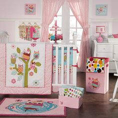 Invite the owls to your little baby girl's nursery.