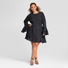 Women's Tiered Ruffle Cuff Mini Dress - Who What Wear™   Click To Price or Order