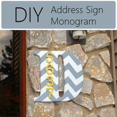 DIY Address Sign Monogram