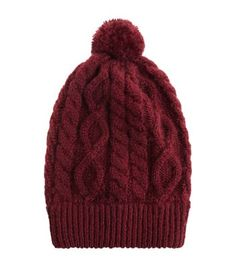 Discover the latest trends with New Look's range of women's, men's and teen fashion. Cable Knit Hat, Knit Beanie Hat, Cute Beanies, Bobble Hats, Teen Fashion, Knitted Hats, Winter Hats, Burgundy, Knitting