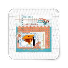 Shop Graduation, Hard Work, Diploma, Success, Cap Square Sticker created by Personalize it with photos & text or purchase as is! Graduation Stickers, Personalized Graduation Gifts, Diy Stickers, Hard Work, Ipad Mini, Ipad Case, Jigsaw Puzzles, Stationery, Celebration