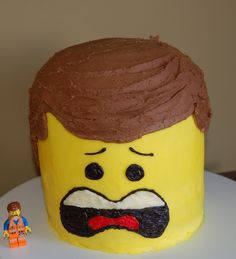Birthday Cakes - Emmett from the new Lego Movie. All buttercream icing.