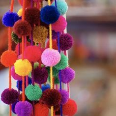 Strings of Chiapas PomPoms