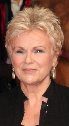 """Hairstyles: Julie Walters – Short Spiky Hairstyle - Rate This Style - Julie Walters – Short Spiky Hairstyle Julie Walters – """"The Harry Hill Movie"""" World Premiere – Arrivals – Vue West End, Leicester Square – London, UK – Related: Julie Walters Hairstyles Short Hair Over 60, Short Hair Older Women, Short Thin Hair, Short Grey Hair, Very Short Hair, Short Hair With Layers, Haircut For Older Women, Short Hair Styles, Short Spiky Hairstyles"""