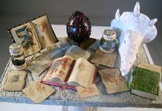 miniature Dragon Study Table