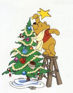 Christmas - Disney - Winnie-The-Pooh Winnie The Pooh Christmas, Cute Winnie The Pooh, Winne The Pooh, Winnie The Pooh Quotes, Winnie The Pooh Friends, Disney Christmas, Merry Christmas, Christmas Star, Walt Disney