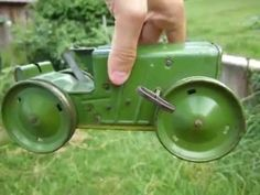 Vintage Marx NY 200 5th. Ave. Pressed Steel Key Wind Tractor