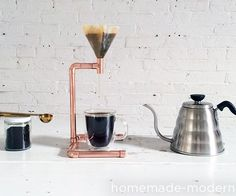 """This is the first episode of our """"CoffeeScapes"""" series that will feature different ways to make the things that make our coffee. The copper pipe pour over device is held together with epoxy, so soldiering equipment and skills are not required. Because copper pipe can be cut with a tube cutter, this project can be made without a single powertool. I've included links to the filters and funnel that I used down in the supply list. This is a really easy project and makes a great gift."""