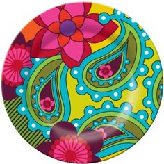 french bull side plate raj - from By Design Australia. I love brights like this. Painted Chairs, Painted Floors, Painted Furniture, Pottery Painting, Ceramic Painting, Paisley, Talavera Pottery, Creation Deco, Ceramic Plates