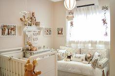 quarto de bebê com a temática floresta