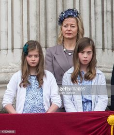 2015 trooping the colour balcony Lady Helen Windsor and daughters Eloise and Estella Taylor.