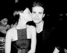 The Vampire Diaries ... Phoebe Tonkin and Paul Wesley as Hayley and Stefan <3