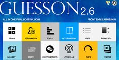 GuessOn - All in one Viral Quiz & Polls -Wordpress by bitsgeo Want to Rank better yourWordpress site in SE¡¯s?Want to Engage your readers ? Want booster Marketing tool to get email signup?GuessOn is helping to increase rank in SE¡¯s and quality traffic with great engagement of your audience an