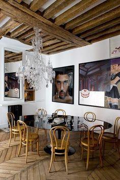 #Parisian #apartment featured in #Cote #Paris. #interior #design