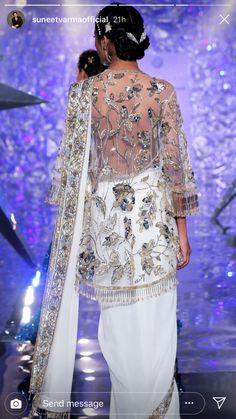 Wedding Saree Blouse, Desi Wear, Lehenga, Sequin Skirt, Kimono Top, Sequins, Skirts, How To Wear, Inspiration