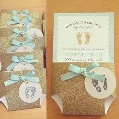 Just finished these cute gold glitter diapers for my niece's baby shower…