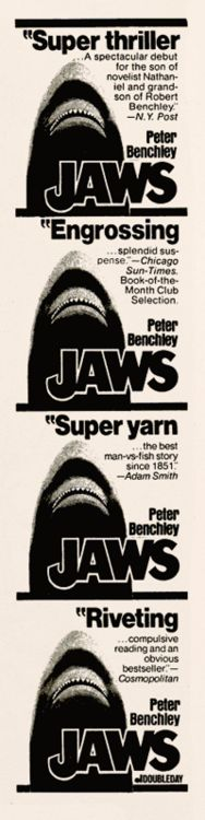 """""""Jaws"""" by Peter Benchley, 1974"""