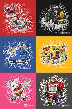 Lil Dinozords - Visit to grab an amazing super hero shirt now on sale! Power Rangers Movie 2017, Power Rangers Fan Art, Power Rangers Dino, Mighty Morphin Power Rangers, Rangers Top, Chibi Marvel, Green Ranger, Gundam Art, Classic Cartoons