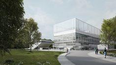 """mages for the project """"Suspended Terraces"""", Lieu de Vie, Saclay, PARIS    architecture developed by: Muoto architectes"""