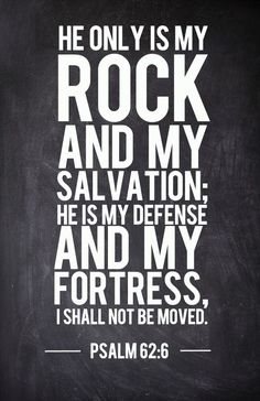 Tú eres mi roca!!!!