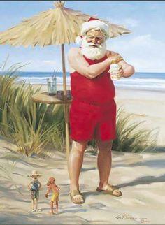 Vamos a la playa Santa !
