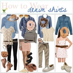 how to wear a chambray shirt
