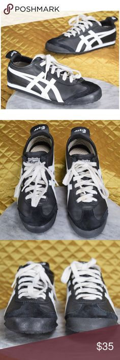Onitsuka Tiger by Asics Black Sneakers Men's Size These are Onitsuka tiger shoes in excellent condition!  **If you appreciate old school quality - you're in the right place. We don't just sell products, we put time & work into them. We ship fast, usually within 1 business day! Enjoy! Onitsuka Tiger by Asics Shoes Sneakers