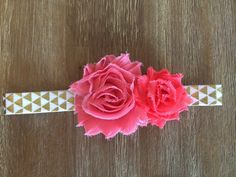 Gold Geometric and Pink Headband Pink and by Thelittlearrowshop