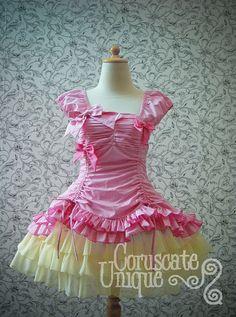 Pink and yellow classic lolita dress