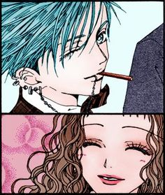 Shin and Reira from Nana by Ai Yazawa Colorized by me NANA: Smile Shin Nana, Me Me Me Anime, Anime Love, Yazawa Ai, Nana Manga, Nana Komatsu, Nana Osaki, 07 Ghost, Punk Baby