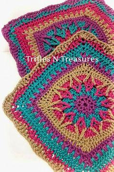 new crochet pattern: Starburst Crochet Granny Square