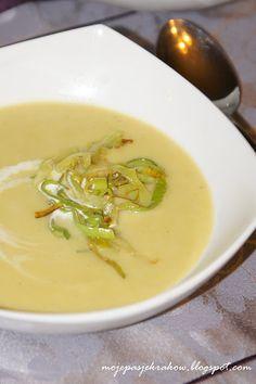 moje pasje: Zupa krem porowo-ziemniaczana Thai Red Curry, Ethnic Recipes, Soups, Food, Essen, Soup, Meals, Yemek, Eten