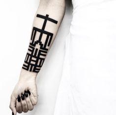 lineas gruesas disenos de tatuajes geometricos