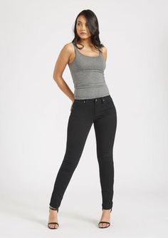 aea87d12c0 Tall Siena High Waisted Skinny Jean. $49.90 Black Denim Affordable Jeans for  Tall Women.