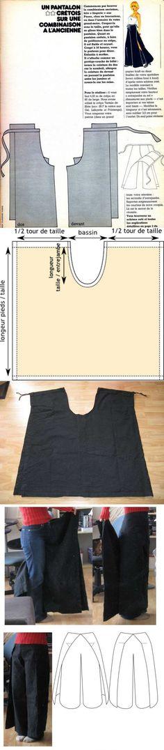 Trousers with ties (2 variants, DIY).