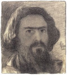 Giovanni Segantini · Autoritratto · 1890 · Segantini Museum · St. Moriz