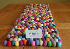 Felt Ball Table Runner // Made to Order by NomiMakes on Etsy