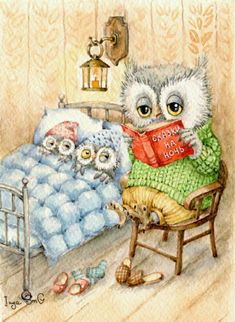 Inga Izmaylova is a Russian contemporary illustrator. He lives in Moscow and signs his drawings of Inga SmC animals. Illustrations Vintage, Owl Cartoon, Owl Pictures, Owl Always Love You, Wise Owl, Tatty Teddy, Owl Art, Children's Book Illustration, Cute Art