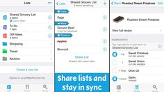 Convenient new app helps you organize your grocery list and share it with anyone using your iPhone....