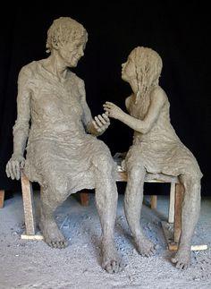 Jurga Jurga : Sculpteur, à Beaune                              … Sculptures Céramiques, Art Sculpture, Ceramic Figures, Ceramic Art, Art Et Nature, Art Carved, Art Plastique, Pottery Art, Oeuvre D'art