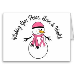 Christmas Snowman Breast Cancer Ribbon Greeting Card http://www.zazzle.com/christmas_snowman_breast_cancer_ribbon_card-137332082180044461?rf=238312613581490875