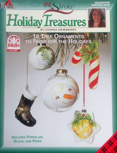 Plaid Donna Dewberry One Stroke HOLIDAY TREASURES Christmas OrnamentsTole Decorative Painting Project Book on Etsy, $7.75