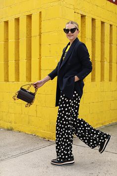 Blair wearing suiting from the Atlantic-Pacific x Halogen collection // Exclusively at Nordstrom on Hampden Clothing, Yellow Fashion, Fashion Outfits, Womens Fashion, Fashion Blogs, Office Outfits, Autumn Winter Fashion, Street Wear, Atlantic Pacific